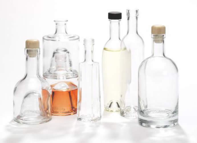 clear glass food bottles